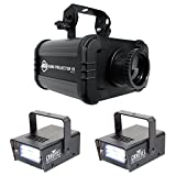Package: American DJ ADJ GOBO PROJECTOR IR LED Light With IR Remote, 4 Colors, 4 Patterns, Low Heat Output, and Long Lasting LED's + (2) Chauvet DJ MINI STROBE LED Compact Easy-to-use Strobe Lights