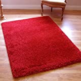 Twilight 39001-1210 Thick Luxurious Shaggy Rug Red