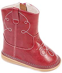 Wee Squeak Baby Red Cowboy Boot 10T