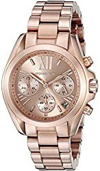 Michael Kors Women's MK5799 Bradshaw Rose Gold-Tone Stainless Steel Watch
