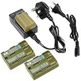 DSTE® (3-pack) Replacement Battery + Charger DC19U for Canon BP-511, BP-511A and Canon EOS 10D, EOS 20D, EOS 20Da, EOS 300D, EOS 30D, EOS 40D, EOS 50D, EOS 5D, EOS D30, EOS D60, EOS Digital Rebel, EOS Kiss Digital, DM-MV100X, DM-MV100Xi, DM-MV30, DM-MV40