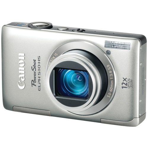 Canon PowerShot ELPH 510 HS 12.1 MP CMOS Digital Camera with Full HD Video and Ultra Wide Angle Lens (Silver) (Canon Powershot Elph 510 Hs compare prices)