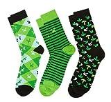 Minecraft Socks 3 Pack - Green, Socks Small