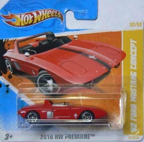 Hot Wheels 2010 Hw Premiere Red '62 Ford Mustang Concept on Short Card 32/214 by Hot Wheels