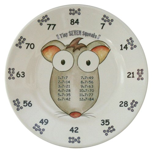 The Multiples Times Table Dinnerware Tiny Seven Squeeks 6.5 inch Melamine Plate - 1