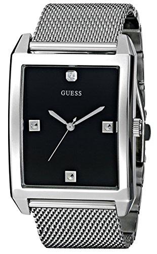 Guess U0279G1 - Reloj para hombres, correa de acero inoxidable color plateado