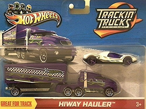 HOT WHEELS Trackin' Trucks Hiway Hauler with White Teegray (Hot Wheels Semi Truck compare prices)