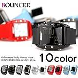 バウンサー(BOUNCER) 腕時計 メンズ バウンサースポーツ デジタルラバーウォッチ 防水 384M