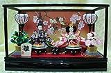 【新作雛人形】【ケース飾り雛人形】小三五二人飾りケース付き雛人形【2人飾りひな人形】ks35-2