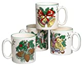 Spode World of Christmas Mugs, Set of 4