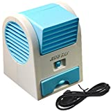 Hotenergy Mini Small Fan Cooling Portable Desktop Dual Bladeless Air Conditioner USB New