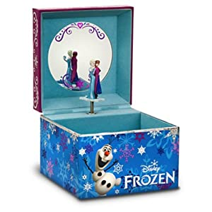 Disney Store Musical Frozen Jewelry Box Anna Elsa