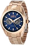 Invicta Men's INVICTA-14711 Speedway Blue Dial 18k Rose Gold Ion-Plated Stainless Steel Watch