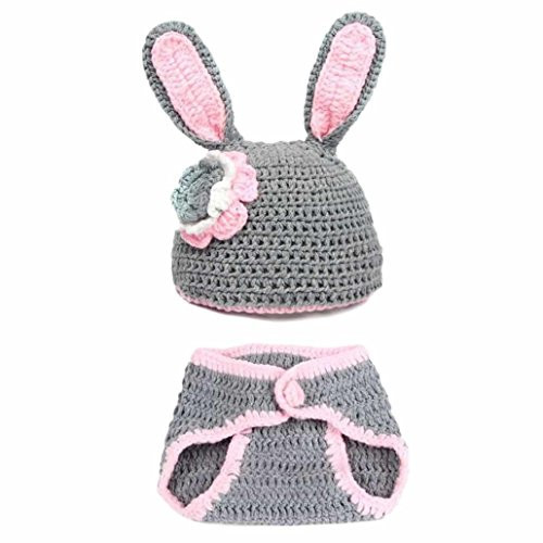 CXB1983(TM)2015 Cute Newborn Baby Girl's Hat+Pants Bunny Clothes Outfit Suits