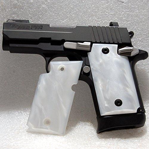 Sig Sauer P938 Gun / Pistol Grips, Kirinite, White Mother of Pearl