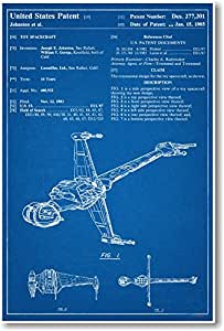 Buy Star Wars B Wing Patent New Famous Invention