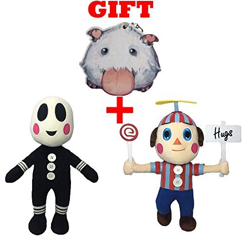 [Five Nights at Freddy's FNAF Action Plush Dolls Clown & Balloon Boy Stuffed Toys 2pcs/set + GIFT] (Five Nights At Freddys Costume Mangle)