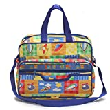 Bazaar Pirates Mama's First Choice Baby Diaper Bag & Kids Luggage Bag Kids Print Imported Fabric Front Zip ( Multi-Color )