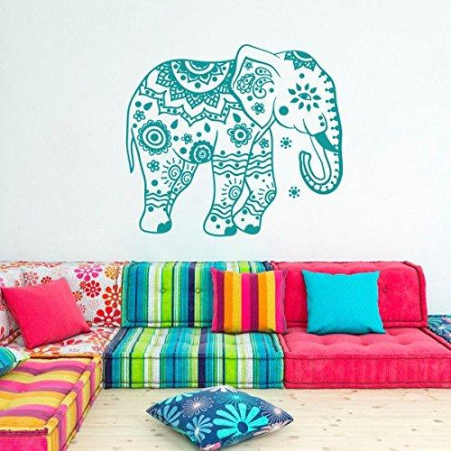 elefante-pared-vinilo-pegatinas-flores-patrones-yoga-adhesivos-arte-de-pared-decoracion-del-hogar-in