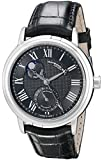 """Raymond Weil Men's 2839-STC-00209 """"Maestro"""" Stainless Steel Automatic Watch with Black Leather Band"""