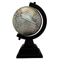 EnticeSelections Antique Handicrafted Big Desktop Rotating Globe Earth Geography World Globes Ocean Table Décor 4 Inch