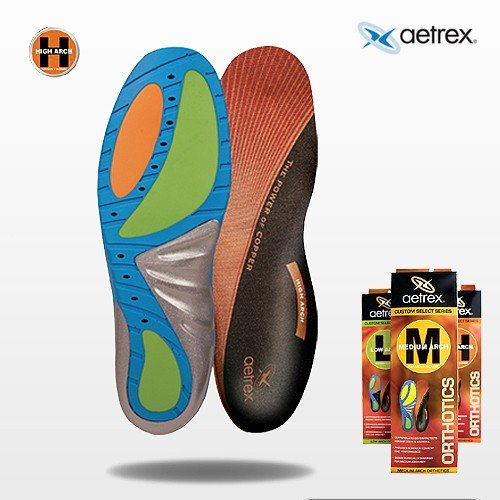 High Arch Insoles Support for Men | Aetrex Orthotics (7 UK)