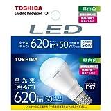 東芝 E-CORE(イー・コア) LED電球 ミニクリプトン形 5.6W (明るさ重視タイプ・密閉形器具対応・断熱材施工器具対応・E17口金・小型電球50W相当・620ルーメン・昼白色) LDA6N-H-E17/S