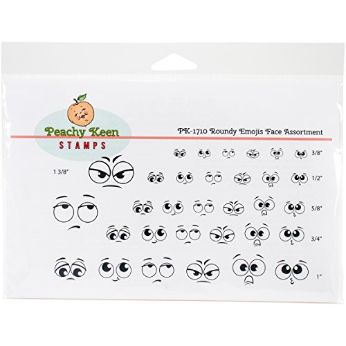 peachy-keen-stamps-clear-face-assortment-32-pkg-roundy-emojis