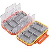 Mudder Portable Waterproof 12-compartment Fishing Tackle Box Orange