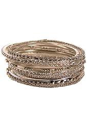 Silver Tone Crystal Bangle Bracelets Set of 11 (Eleven)