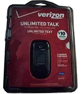 Samsung Verizon VZW-SKU SCHU360DPP Cell Phone with Unlimited Talk and Text with $10 Airtime Included
