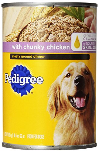 Pedigree Meaty Ground Dinner With Chunky Chicken Wet Dog Food, 22-Ounce (Pack Of 12)