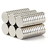 Premium Pack 30 Brushed Nickel Magnetic Push Pins, 20+10 (Bonus Magnet) - Fridge Magnets, Office Magnets, Dry Erase Board Magnets, Refrigerator Magnets, Whiteboard, Map, Magnetic Pins, Pawn Style