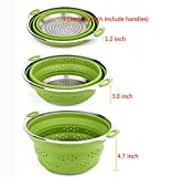 iNeibo Collapsible Colander Best Stainless steel and Silicone Compact Kitchen Food Strainer Steamer