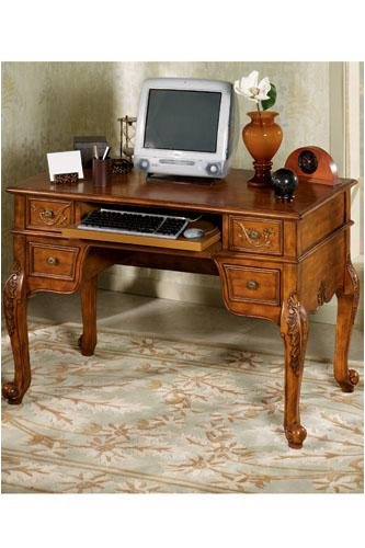 Winslow Computer/writing Desk 32&quot;hx48&quot;w Antique Oak
