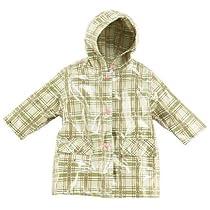 Pluie Pluie Girls Green Plaid Unlined Raincoat Outerwear 7-8