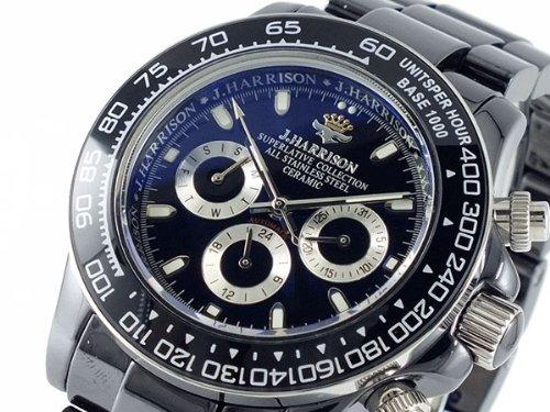 ジョンハリソン JOHN HARRISON セラミック 自動巻き 腕時計 JH017-BKBK [並行輸入品]