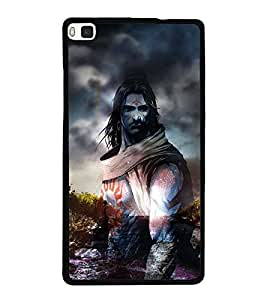 Shiva 2D Hard Polycarbonate Designer Back Case Cover for Huawei P8