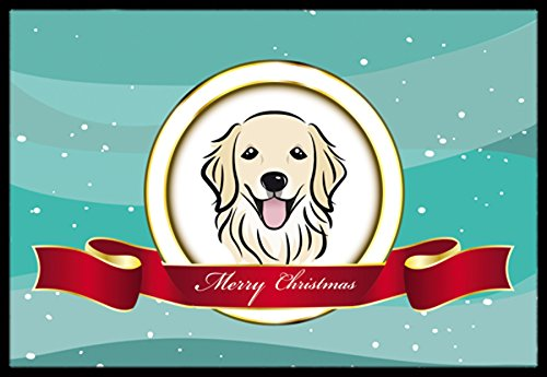 Caroline's Treasures BB1515JMAT Golden Retriever Merry Christmas Indoor or Outdoor Mat, 24