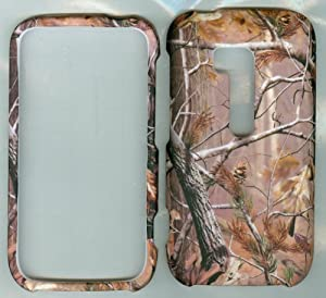 Nokia Lumia 822 Snap on Faceplate Phone Case Cover Hard Rubberized Camo Real Tree Buck Deer Hunter New