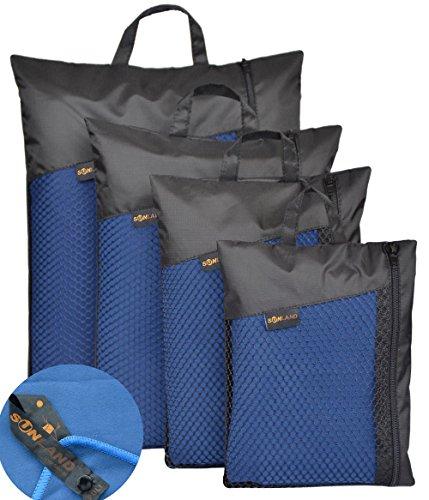 Sunland Microfiber Ultra Compact Absorbent Fast Drying Travel Bath Beach Towels(Dark Slate Blue,32