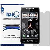 Halo Screen Protector Film Invisible (Clear) for Verizon Motorola Droid RAZR(XT912/XT910) (3-Pack) / X4 RAZR MAXX - Premium Japanese Screen Protectors