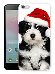 """Humor Gang Cute Dog With Christmas Hat Printed Designer Mobile Back Cover For """"Huawei Honor 4X"""" (3D, Matte, Premium Quality Snap On Case)"""