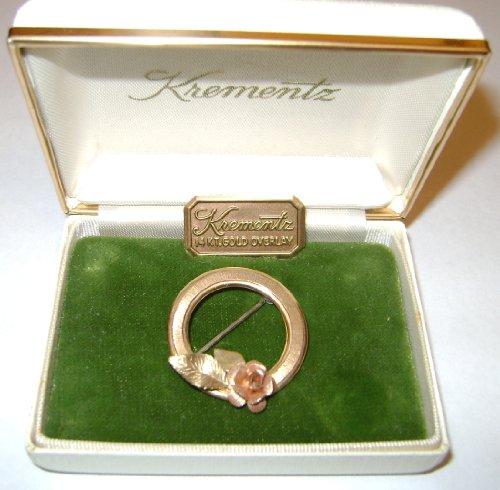 Vintage - KREMENTZ - 14 KT Gold Overlay PIN - Jewelry