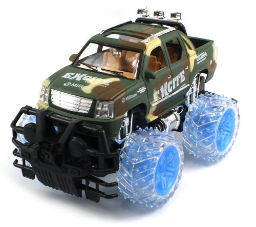 Military Armor Escalade Ext Electric Rc Truck 1:16 Rtr W/ Light Up Wheels (Colors May Vary)