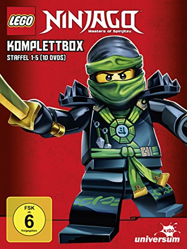 Lego Ninjago Komplettbox - Staffel 1-5 [10 DVDs]