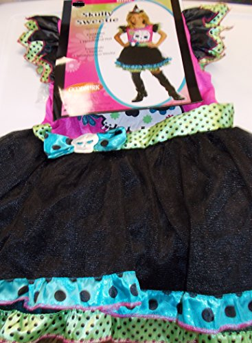 Skully Sweetie Witch Girls Dress Costume S 4-6