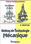 Notions de technologie m�canique
