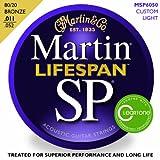 Martin 80/20 Bronze Lifespan Coated Acoustic Strings 11-52 Custom Lt