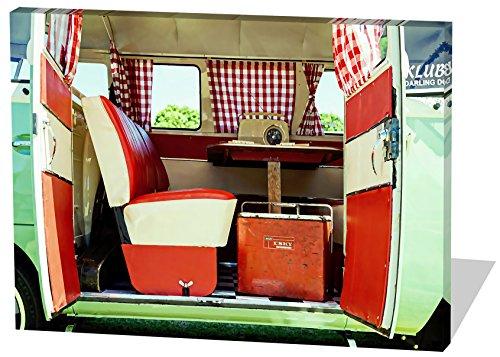 Vintage-Bullie-Gemlde-Effekt-schnes-und-hochwertiges-Leinwandbild-zum-Aufhngen-in-XXL-60cm-x-40cm-echter-Holzrahmen-effektiver-Pigmentdruck-modernes-Design-fr-Ihr-Bro-oder-Zimmer